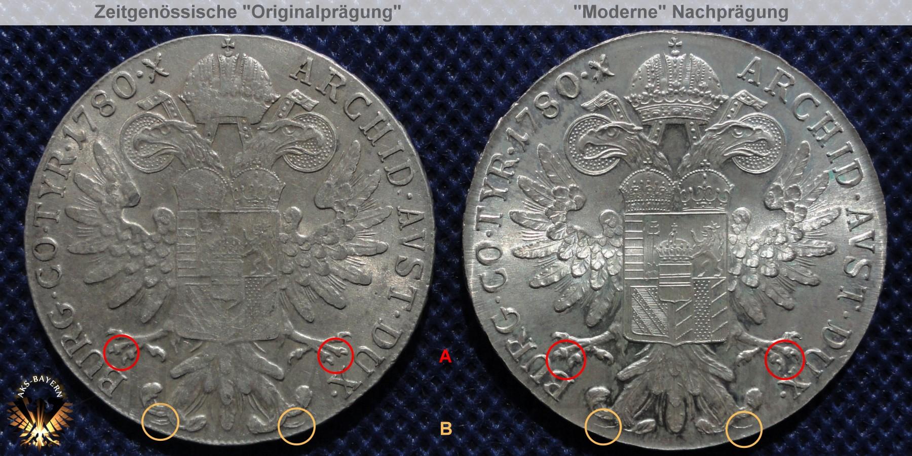 Der Maria Theresien Taler Levantinertaler 1780 X Original Und