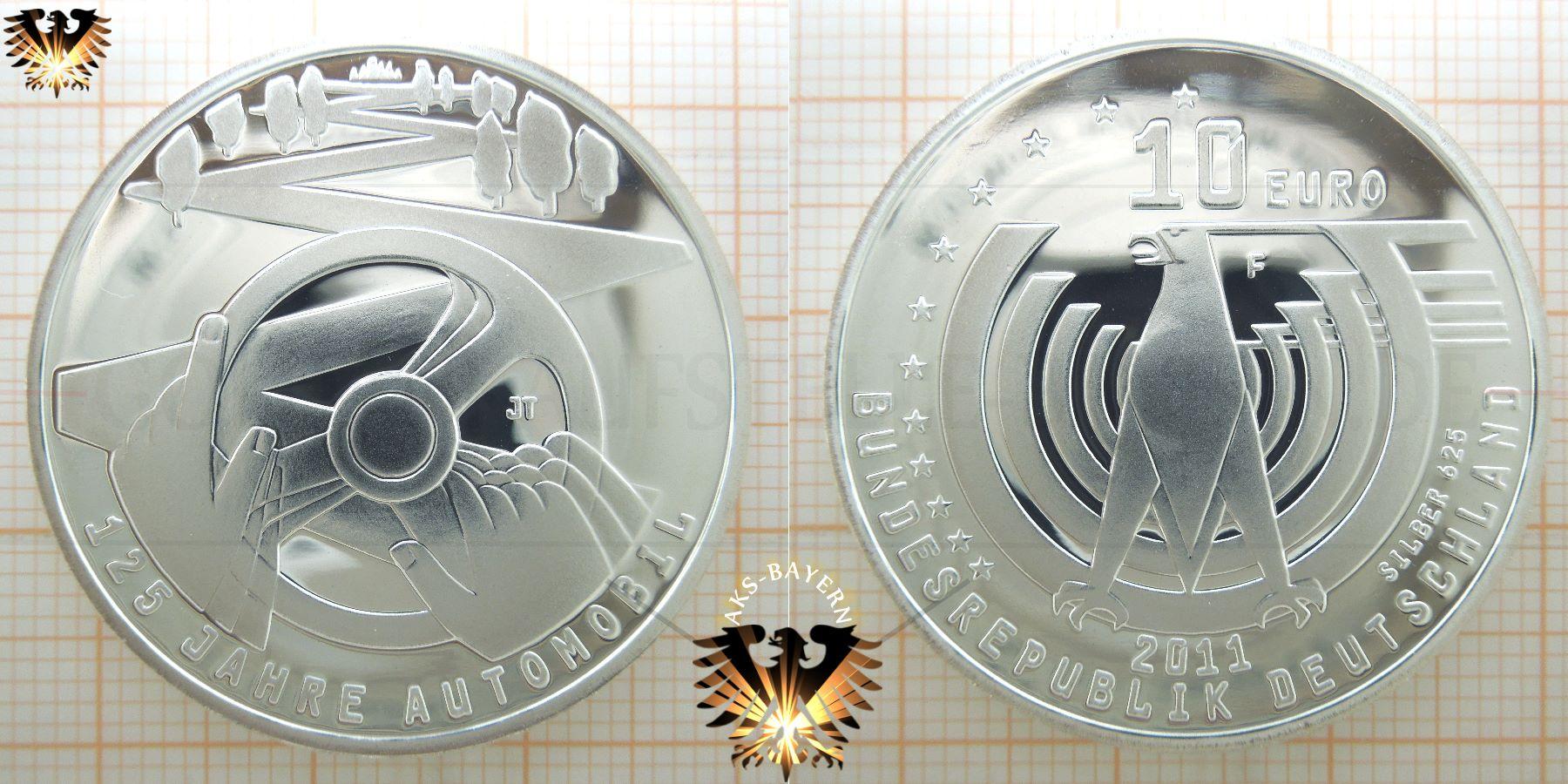 10 Brd 2011 F 125 Jahre Automobil Silbermünze Gedenkmünze