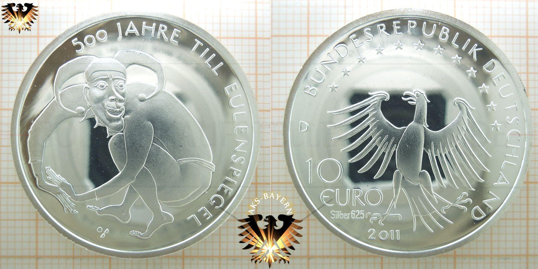 10 Brd 2011 D 500 Jahre Till Eulenspiegel Münzen Ankauf Und