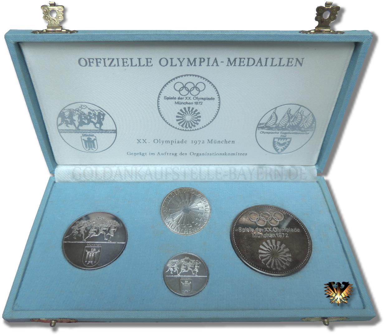 10 Dm Brd 1972 Olympiade In München Gedenk Silbermünze