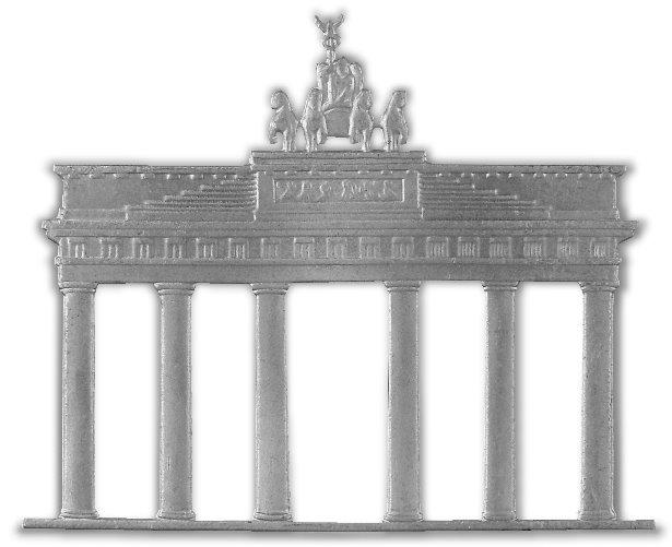 Das Brandenburger Tor in der Hauptstadt Berlin. Teil der Gedenkmünze zu 10 deutsche Mark von 1991. Münzarchiv, Kategorie Münzkatalog Deutschland.