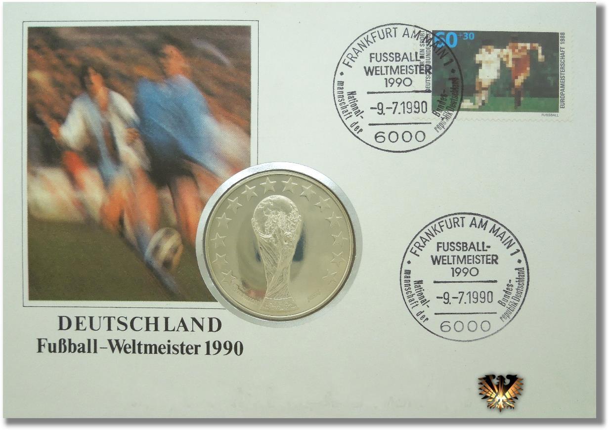 Numisbrief Mit Medaille Zur Fifa Wm In Italien 1990