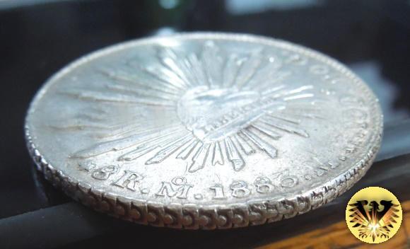 Münze Republica Mexicana 1883 8 R Reales Mo 20 G Mexiko Silber