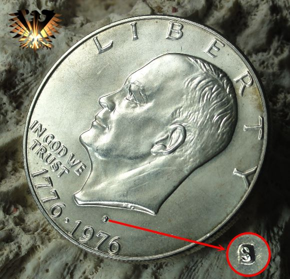 1 Dollar Usa 1972 Eisenhower Dollar Moon Behind Liberty Bell 1976