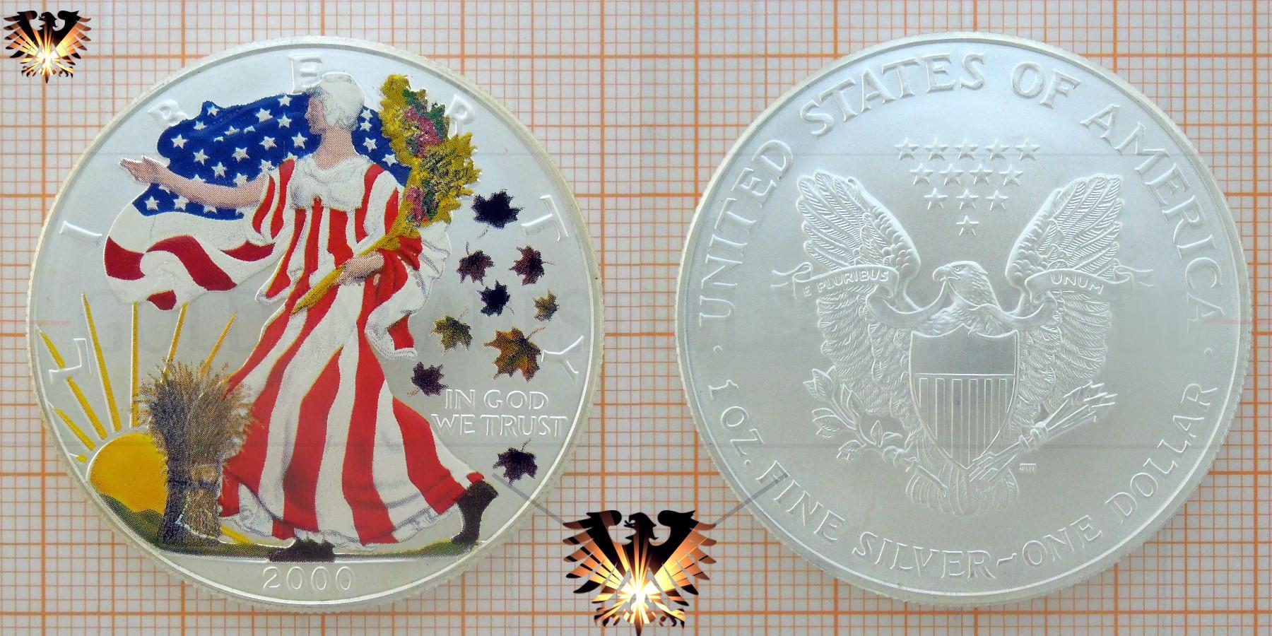 One Dollar Liberty Silver Eagle Usa Y2k Bullionmünzen Verkauf Ankauf
