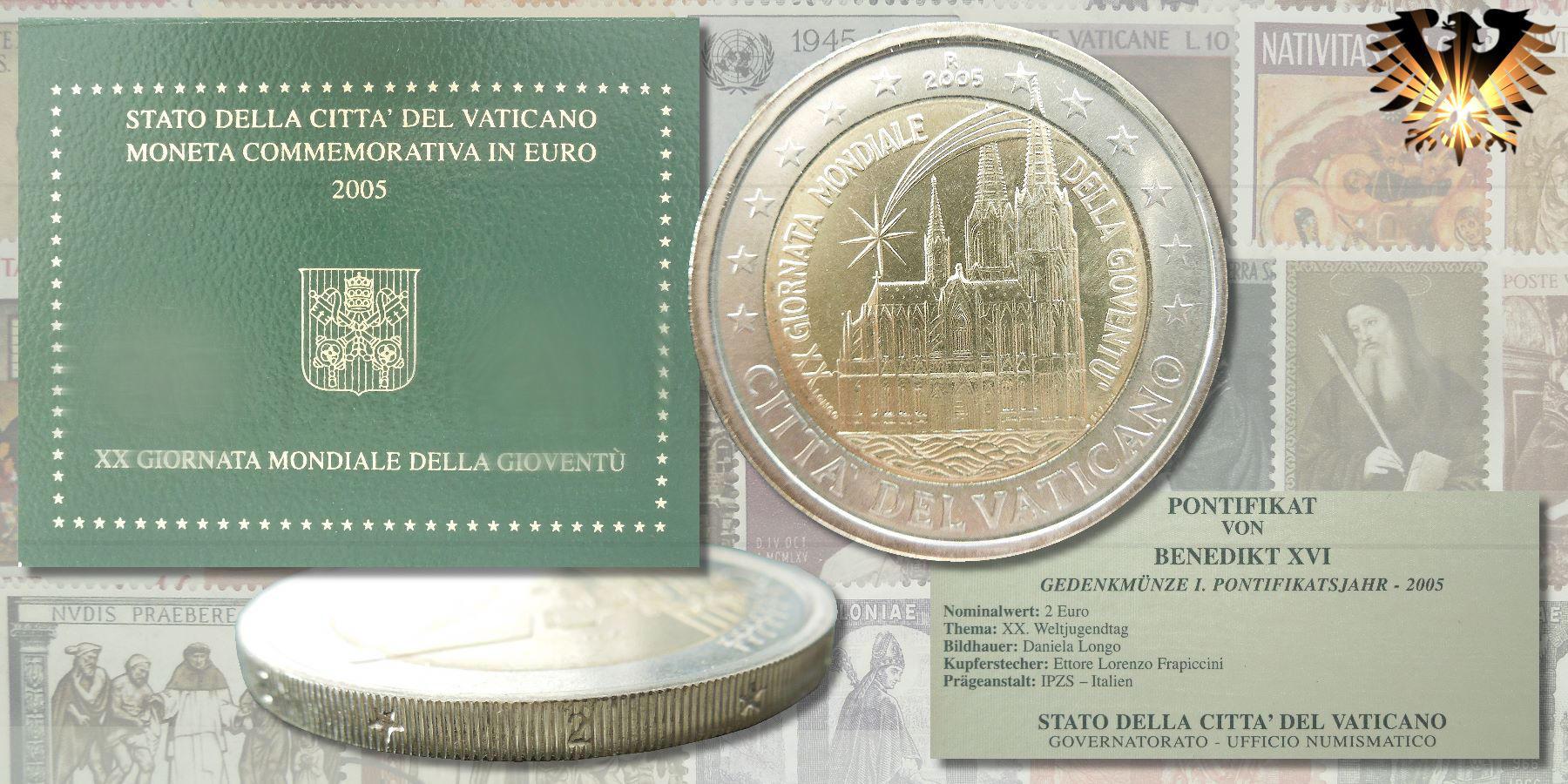 2 Euro 2005 Vatikan Citta Del Vaticano Xx Giornata Gondiale
