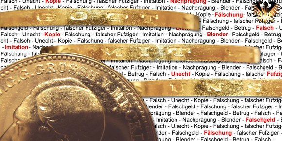 20 Goldmark - Fälschungen Deutsches Kaiserreich - 1 Doppelkrone / RM © goldankaufstelle-bayern.de