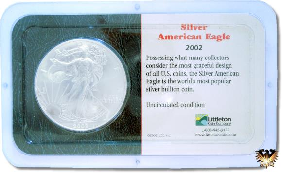 Silver American Eagle 2002 im Blister