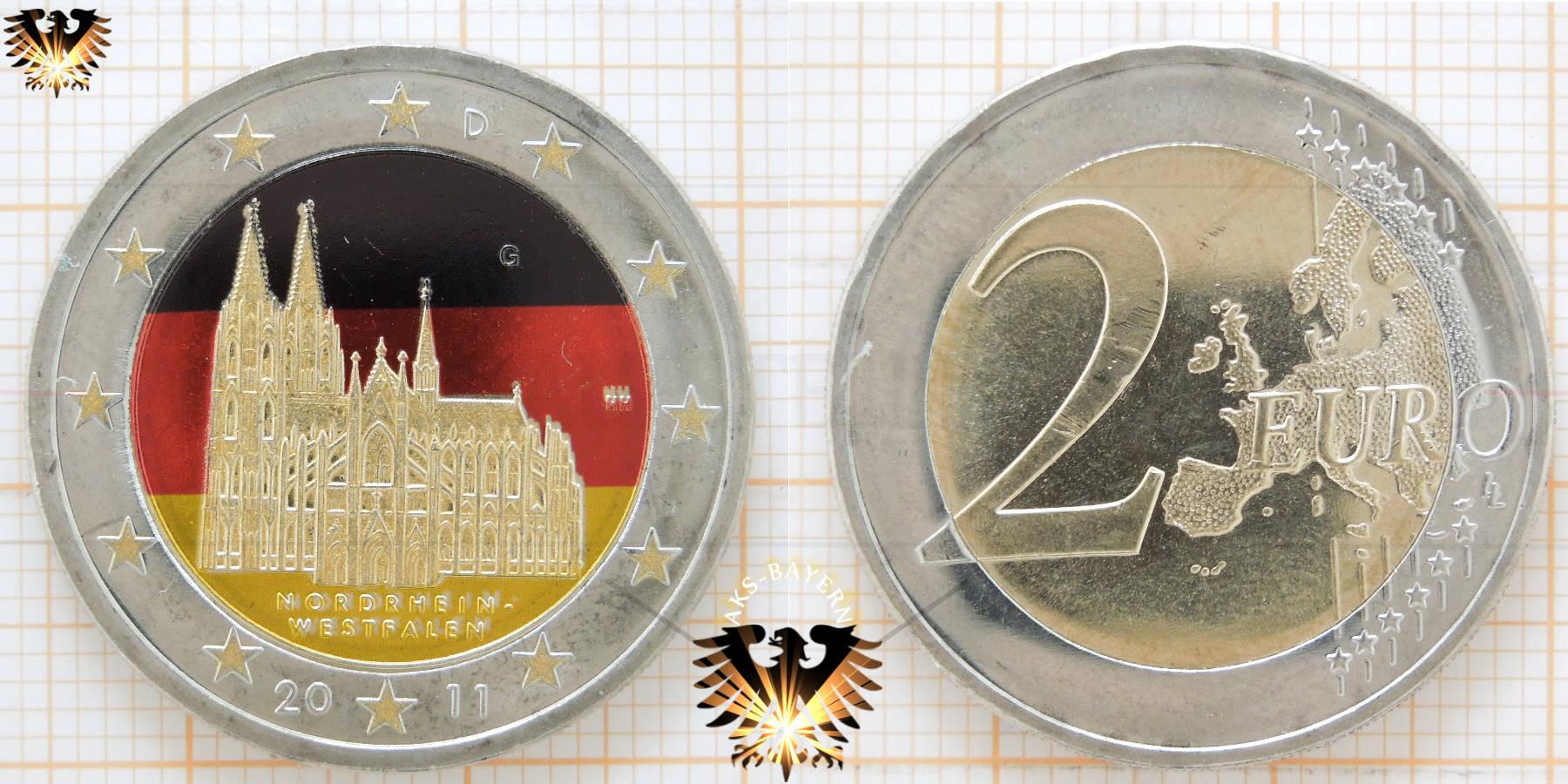 2 Brd 2011 Prägeort München Gedenkmünze Nordrhein Westfalen