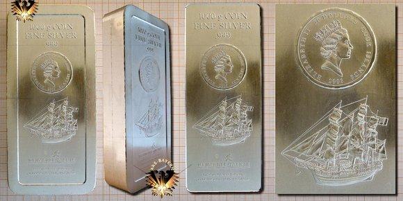 Bullionmünze: COK, 30 Dollars, 2008, Cook Islands, 1000 g Coin Fine Silver - Silber Münzbarren © goldankaufstelle-bayern.de
