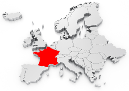 Frankreich in Europa. Münzen, vom Franc zum Euro.