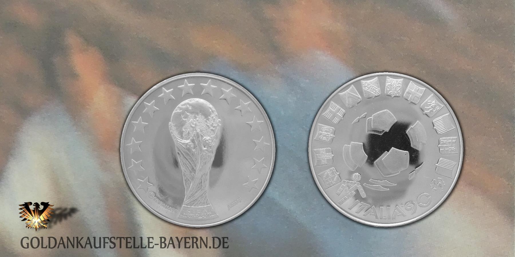 Numisbrief mit Medaille zur FIFA WM in Italien 1990 - DEUTSCHLAND Fußball-Weltmeister 1990 © goldankaufstelle-bayern.de