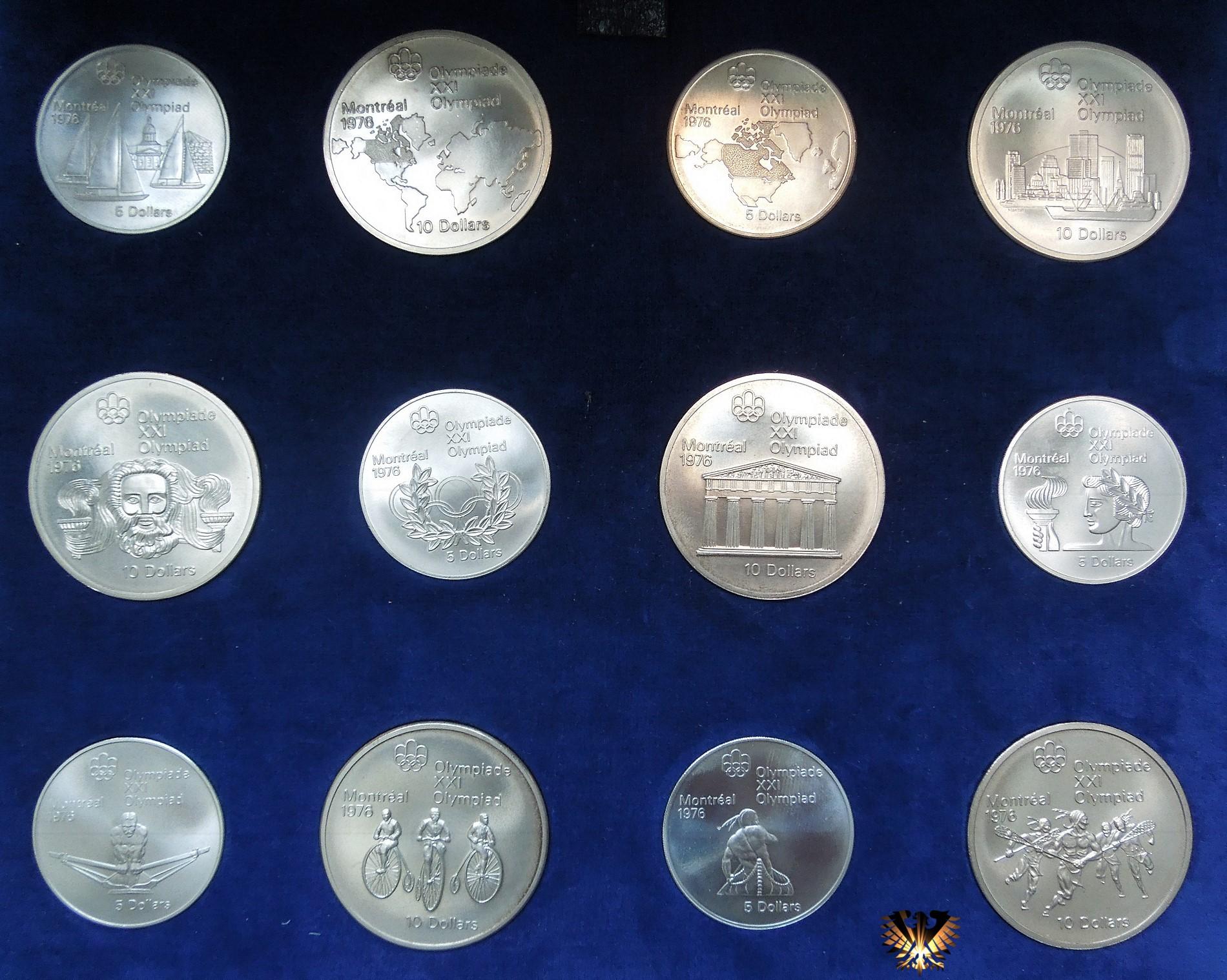 10 Dollars Canada 1976 Elizabeth Ii Xxi Olympiad Montréal 1976