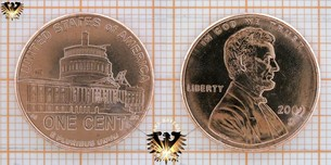 1 Cent, USA, 2009, Lincoln Bicentennial, Precidency  Vorschaubild