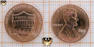 1 Cent, USA, 2010, Lincoln Cent, Union  Vorschaubild