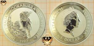 Bullionmünze: AUS, 1 Dollar 1997, Australian Kookaburra  Vorschaubild
