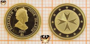 1 Dollar, Cook Islands, 2007, Malta 2008,  Vorschaubild