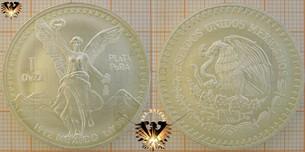 Bullionmünze: MEX, 1 Onza, 1oz,  Mexico 1992  Vorschaubild