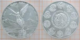 Bullionmünze: Mex, 2009, Feinsilber 1 Unze Plata  Vorschaubild