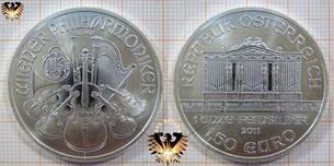 1,50 Euro, Österreich, 2011, Silbermünze - Wiener Philharmoniker