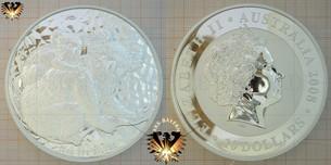 Bullionmünze: AUS, 10 Dollars, 2008, Australia, Koala 10 oz Silver Barrenmünze