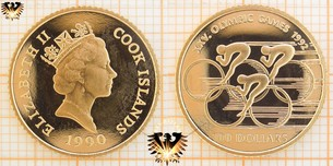 100 Dollars, Cook Islands, 1990, XXV Olympic  Vorschaubild
