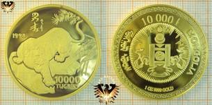 10000 Tugriks, Mongolei, 1998, Gefährdete Tierwelt -  Vorschaubild