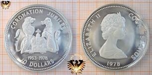 10 Dollars, 1978, Cook Islands, 25 Anniversary  Vorschaubild