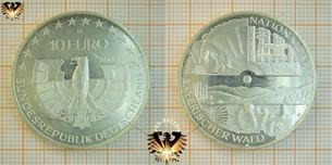 10 €, BRD, 2005, D, Nationalpark Bayerischer Wald, Silbermünze und Numisblatt 1/2005