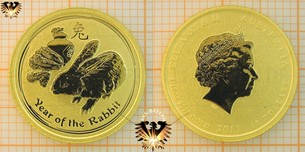 15 Dollar Australien Bullion Goldmünze 1/10 Unze | Lunar II Serie Year of the Rabbit