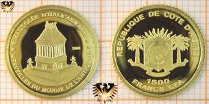 Elfenbeinküste, 1500 Francs, Kleinste Gold  Vorschaubild