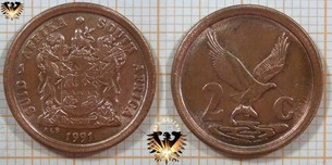 2 Cents, South Africa, 1991, Suid Afrika,  Vorschaubild