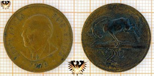 2 Cents, South Africa, 1979, Suid Afrika,  Vorschaubild