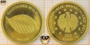 20 €, BRD, 2011 D, Deutscher Wald, Buche