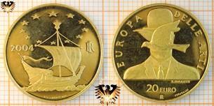 20 Euro, Italien, 2004, Europa delle Arti - Euromünze Gold