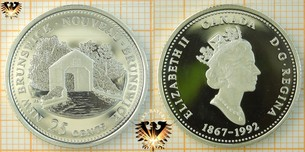25 Cents, Canada, 1992, New Brunswick Quarter,  Vorschaubild