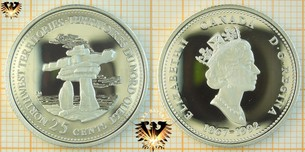 25 Cents, Canada, 1992, Northwestern Territories, Quarter,  Vorschaubild