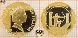 25 Dollars, Cook-Islands, 1995, Olympic Games 1996,  Vorschaubild