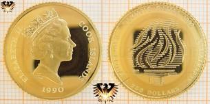 250 Dollars, Cook-Islands, 1990, Olympic Games Barcelona  Vorschaubild
