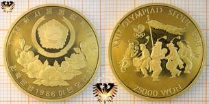 Goldene Won Münzen