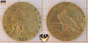 $2,5 Dollars, USA, 1928, Indian Head, Quarter Eagle, Golddollar