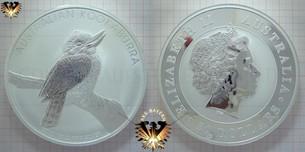 30 AUD, 30 Dollars, 2010, Australien, Australian Kookaburra, 1 Kilo / 1kg, .999 Silber, Bullionmünze