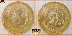 Mexiko Goldmünzen 5 Pesos 1955 | Ankauf-Verkauf  Vorschaubild
