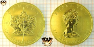 Bullionmünze: CAN, 50 Dollars, Canada, Maple Leaf Gold Münze