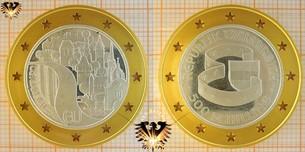 500 Schilling, 1995, Österreich in der EU, Bimetallmünze: Silber / Gold
