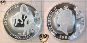 50 Dollars, 1992, Cook Islands, Endangered Wildlife,  Vorschaubild