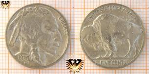 5 Cents, USA, 1930, Buffalo Nickel, 1913-1930