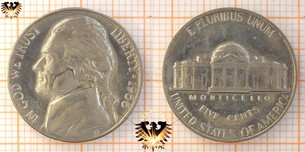 5 Cents, USA, 1966, Thomas Jefferson, seit  Vorschaubild