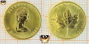 5 Dollars, Canada, 1986, Canada, 1/10 oz. Maple Leaf, 9999 Fine Gold