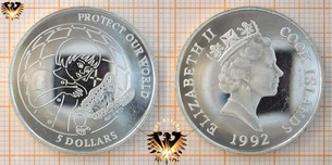 5 Dollars 1992, Cook Islands, Protect our  Vorschaubild